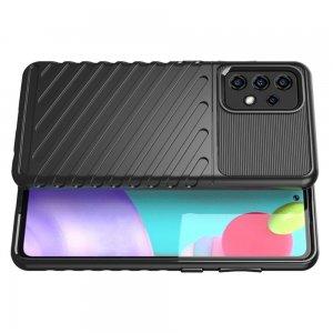 AirBags Case противоударный силиконовый чехол с усиленной защитой для Samsung Galaxy A52 Черный