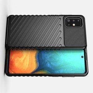 AirBags Case противоударный силиконовый чехол с усиленной защитой для Samsung Galaxy A71 Черный