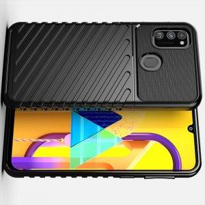 AirBags Case противоударный силиконовый чехол с усиленной защитой для Samsung Galaxy M30s / M21 Черный