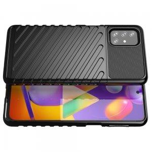 AirBags Case противоударный силиконовый чехол с усиленной защитой для Samsung Galaxy M31s Черный