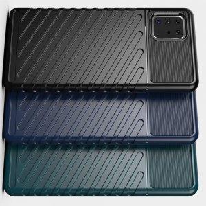 AirBags Case противоударный силиконовый чехол с усиленной защитой для Samsung Galaxy Note 10 Lite Черный