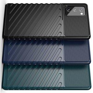 AirBags Case противоударный силиконовый чехол с усиленной защитой для Samsung Galaxy Note 20 Черный