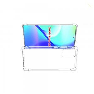 AirBags Case противоударный силиконовый чехол с усиленной защитой для Samsung Galaxy Note 20 Прозрачный