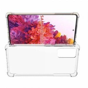 AirBags Case противоударный силиконовый чехол с усиленной защитой для Samsung Galaxy S20 FE Прозрачный