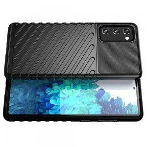 AirBags Case противоударный силиконовый чехол с усиленной защитой для Samsung Galaxy S20 FE / S20 FE Черный
