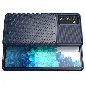 AirBags Case противоударный силиконовый чехол с усиленной защитой для Samsung Galaxy S20 FE / S20 FE Синий