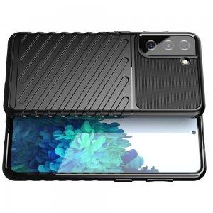 AirBags Case противоударный силиконовый чехол с усиленной защитой для Samsung Galaxy S21 Черный