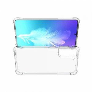 AirBags Case противоударный силиконовый чехол с усиленной защитой для Samsung Galaxy S21 Прозрачный