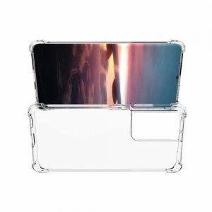 AirBags Case противоударный силиконовый чехол с усиленной защитой для Samsung Galaxy S21 Ultra Прозрачный
