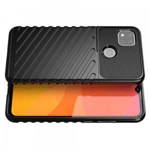 AirBags Case противоударный силиконовый чехол с усиленной защитой для Xiaomi Redmi 9C Черный