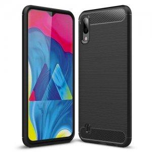 Carbon Силиконовый матовый чехол для Samsung Galaxy M10 - Черный