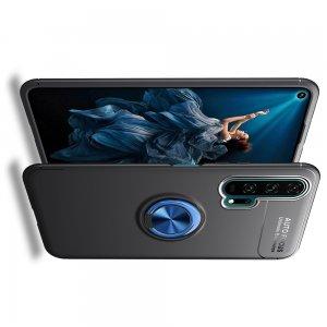 ArmaRing Двухкомпонентный чехол для Huawei Honor 20 Pro с кольцом для магнитного автомобильного держателя - Синий / Черный