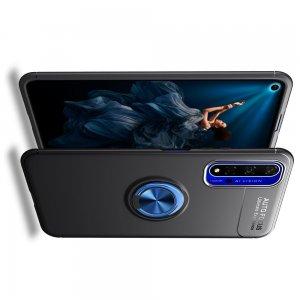 ArmaRing Двухкомпонентный чехол для Huawei Honor 20 с кольцом для магнитного автомобильного держателя - Синий / Черный