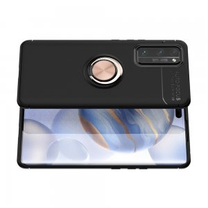 ArmaRing Двухкомпонентный чехол для Huawei Honor 30 Pro с кольцом для магнитного автомобильного держателя - Розовое Золото / Черный