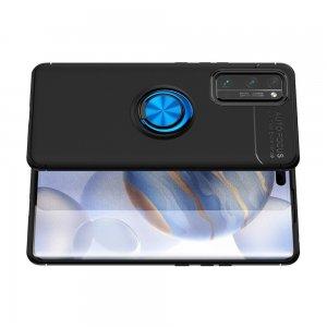 ArmaRing Двухкомпонентный чехол для Huawei Honor 30 Pro с кольцом для магнитного автомобильного держателя - Синий / Черный