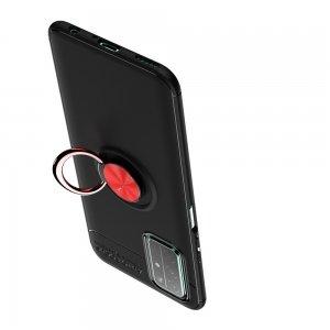 ArmaRing Двухкомпонентный чехол для Huawei Honor 30 с кольцом для магнитного автомобильного держателя - Красный / Черный