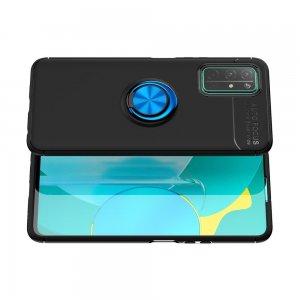 ArmaRing Двухкомпонентный чехол для Huawei Honor 30 с кольцом для магнитного автомобильного держателя - Синий / Черный