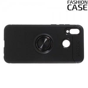 ArmaRing Двухкомпонентный чехол для Huawei Honor Play с кольцом для магнитного автомобильного держателя - Черный