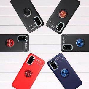 ArmaRing Двухкомпонентный чехол для Huawei Honor View 30 с кольцом для магнитного автомобильного держателя - Красный / Черный