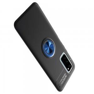 ArmaRing Двухкомпонентный чехол для Huawei Honor View 30 с кольцом для магнитного автомобильного держателя - Синий / Черный