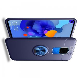 ArmaRing Двухкомпонентный чехол для Huawei Mate 30 Lite с кольцом для магнитного автомобильного держателя - Синий