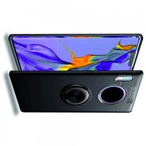 ArmaRing Двухкомпонентный чехол для Huawei Mate 30 Pro с кольцом для магнитного автомобильного держателя - Черный