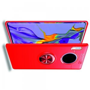 ArmaRing Двухкомпонентный чехол для Huawei Mate 30 Pro с кольцом для магнитного автомобильного держателя - Красный