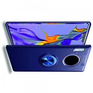 ArmaRing Двухкомпонентный чехол для Huawei Mate 30 Pro с кольцом для магнитного автомобильного держателя - Синий