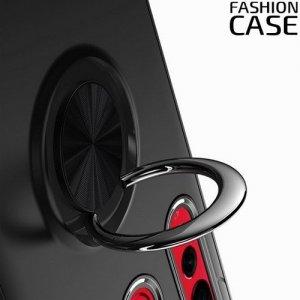 ArmaRing Двухкомпонентный чехол для Huawei nova 4 с кольцом для магнитного автомобильного держателя - Черный