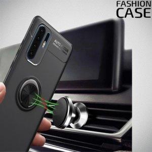 ArmaRing Двухкомпонентный чехол для Huawei P30 Pro с кольцом для магнитного автомобильного держателя - Черный