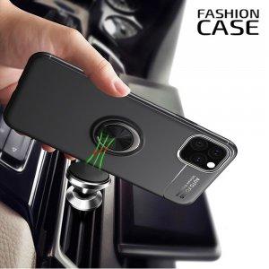 ArmaRing Двухкомпонентный чехол для iPhone 11 с кольцом для магнитного автомобильного держателя - Черный