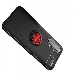 ArmaRing Двухкомпонентный чехол для Realme X3 Superzoom с кольцом для магнитного автомобильного держателя - Красный / Черный