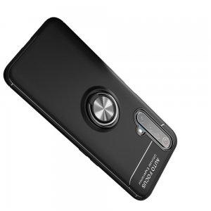 ArmaRing Двухкомпонентный чехол для Realme X3 Superzoom с кольцом для магнитного автомобильного держателя - Серебро / Черный