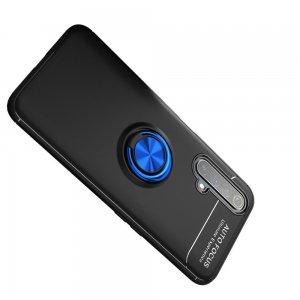 ArmaRing Двухкомпонентный чехол для Realme X3 Superzoom с кольцом для магнитного автомобильного держателя - Синий / Черный