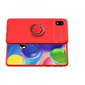 ArmaRing Двухкомпонентный чехол для Samsung Galaxy A01 Core с кольцом для магнитного автомобильного держателя - Красный