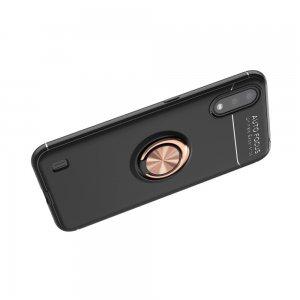ArmaRing Двухкомпонентный чехол для Samsung Galaxy A01 с кольцом для магнитного автомобильного держателя - Черный