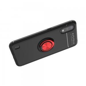 ArmaRing Двухкомпонентный чехол для Samsung Galaxy A01 с кольцом для магнитного автомобильного держателя - Красный / Черный