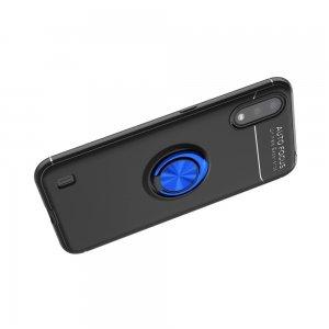 ArmaRing Двухкомпонентный чехол для Samsung Galaxy A01 с кольцом для магнитного автомобильного держателя - Синий / Черный