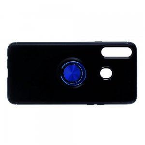 ArmaRing Двухкомпонентный чехол для Samsung Galaxy A20s с кольцом для магнитного автомобильного держателя - Синий / Черный