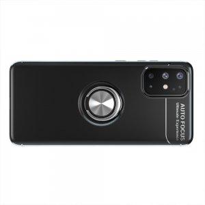 ArmaRing Двухкомпонентный чехол для Samsung Galaxy A31 с кольцом для магнитного автомобильного держателя - Черный