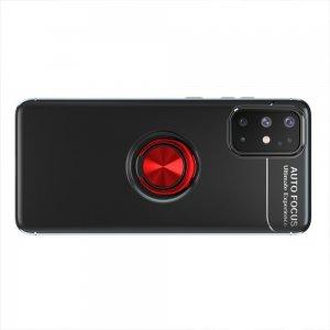 ArmaRing Двухкомпонентный чехол для Samsung Galaxy A31 с кольцом для магнитного автомобильного держателя - Красный / Черный