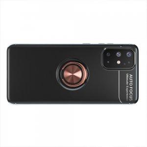 ArmaRing Двухкомпонентный чехол для Samsung Galaxy A31 с кольцом для магнитного автомобильного держателя - Розовое Золото / Черный