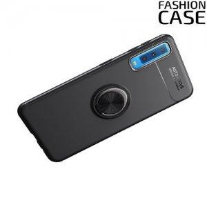 ArmaRing Двухкомпонентный чехол для Samsung Galaxy A7 2018 SM-A750F с кольцом для магнитного автомобильного держателя - Черный
