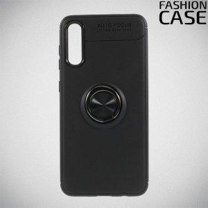 ArmaRing Двухкомпонентный чехол для Samsung Galaxy A70 с кольцом для магнитного автомобильного держателя - Черный