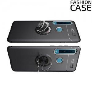 ArmaRing Двухкомпонентный чехол для Samsung Galaxy A9 2018 SM-A920F с кольцом для магнитного автомобильного держателя - Черный