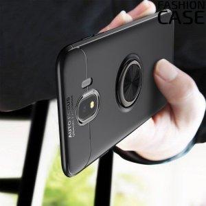 ArmaRing Двухкомпонентный чехол для Samsung Galaxy J4 2018 SM-J400F с кольцом для магнитного автомобильного держателя - Черный