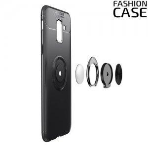 ArmaRing Двухкомпонентный чехол для Samsung Galaxy J6 2018 SM-J600F с кольцом для магнитного автомобильного держателя - Черный