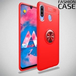 ArmaRing Двухкомпонентный чехол для Samsung Galaxy M30 с кольцом для магнитного автомобильного держателя - Красный