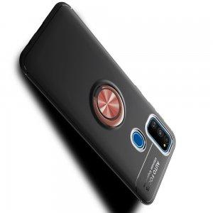 ArmaRing Двухкомпонентный чехол для Samsung Galaxy M31 с кольцом для магнитного автомобильного держателя - Розовое Золото / Черный