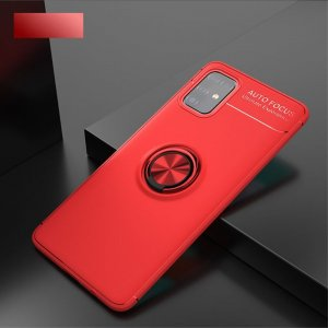 ArmaRing Двухкомпонентный чехол для Samsung Galaxy M31s с кольцом для магнитного автомобильного держателя - Красный